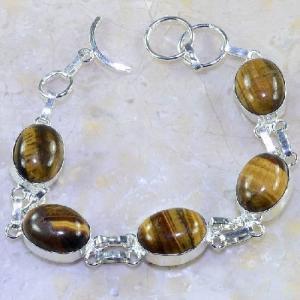 Ot 7854d bracelet oeil de tigre argent 925 achat vente bijoux