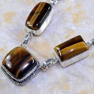 Ot 7855b collier parure sautoir oeil de tigre argent 925 achat vente bijoux 1