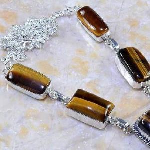 Ot 7855c collier parure sautoir oeil de tigre argent 925 achat vente bijoux 1