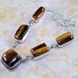 Ot 7855d collier parure sautoir oeil de tigre argent 925 achat vente bijoux 1