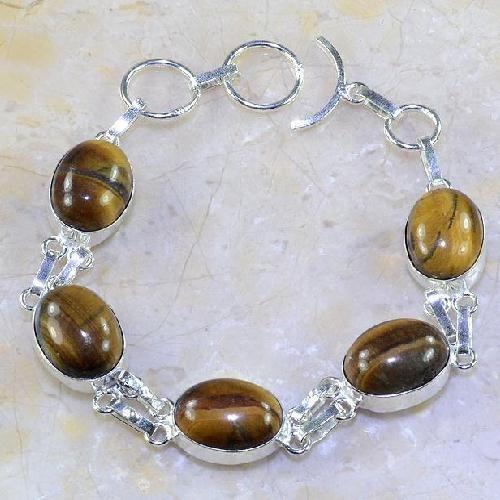 Tigerauge Perlen 10mm Edelstein Naturstein Kette Armband Kugel G75