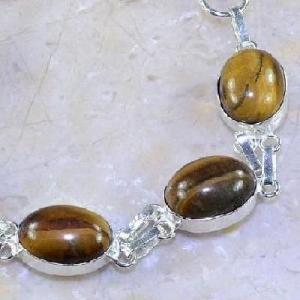 Ot 7856b bracelet oeil de tigre argent 925 achat vente bijoux