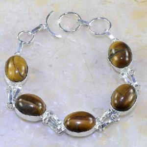 Ot 7856d bracelet oeil de tigre argent 925 achat vente bijoux