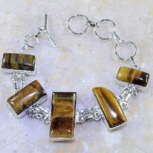 Ot 7857a bracelet oeil de tigre argent 925 achat vente bijoux