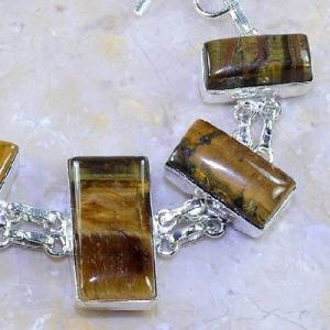 Ot 7857c bracelet oeil de tigre argent 925 achat vente bijoux