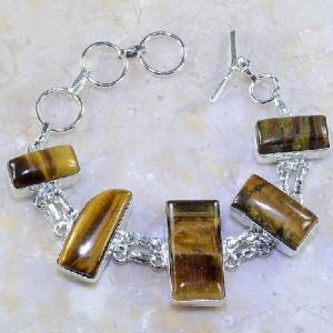 Ot 7857d bracelet oeil de tigre argent 925 achat vente bijoux