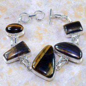 Ot 7858a bracelet oeil de tigre argent 925 achat vente bijoux