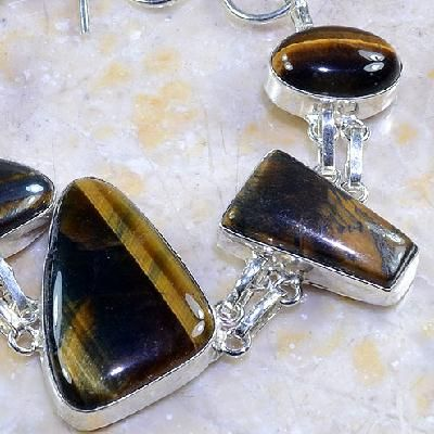 Ot 7858b bracelet oeil de tigre argent 925 achat vente bijoux