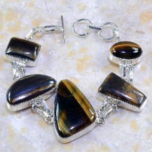Ot 7858d bracelet oeil de tigre argent 925 achat vente bijoux