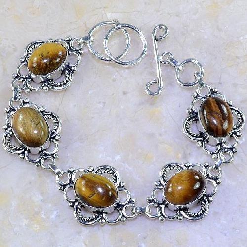 Ot 7859a bracelet oeil de tigre argent 925 achat vente bijoux