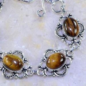 Ot 7859c bracelet oeil de tigre argent 925 achat vente bijoux