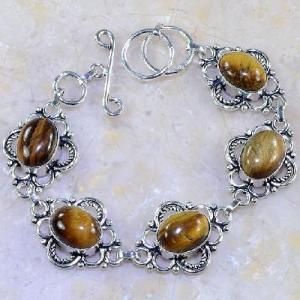 Ot 7859d bracelet oeil de tigre argent 925 achat vente bijoux
