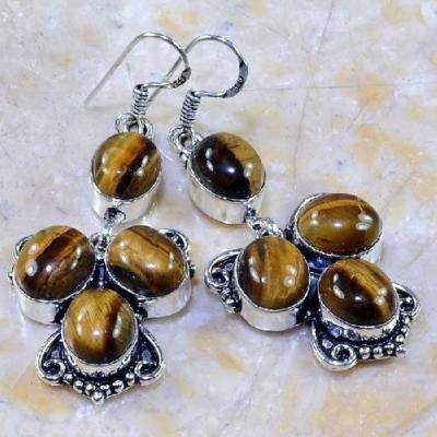 Ot 7860a boucles pendants oreilles oeil de tigre argent 925 achat vente bijoux