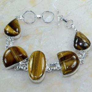 Ot 7862a bracelet oeil de tigre argent 925 achat vente bijoux