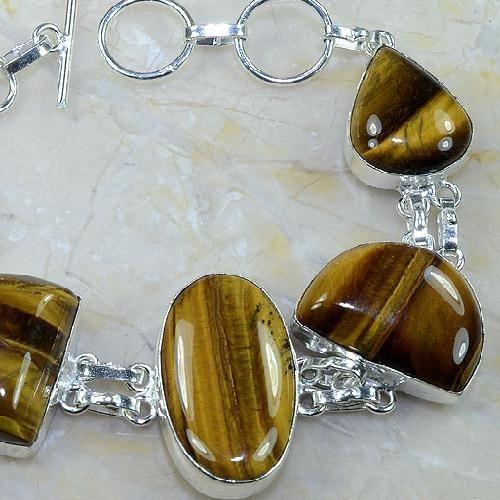 Ot 7862b bracelet oeil de tigre argent 925 achat vente bijoux
