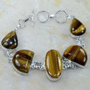 Ot 7862d bracelet oeil de tigre argent 925 achat vente bijoux