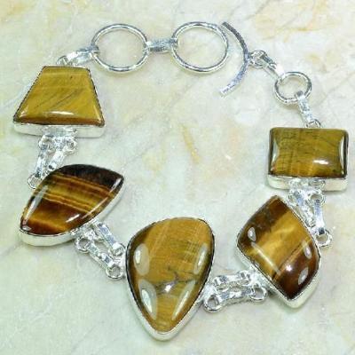 Ot 7863a bracelet oeil de tigre argent 925 achat vente bijoux