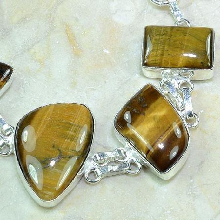 Ot 7863c bracelet oeil de tigre argent 925 achat vente bijoux