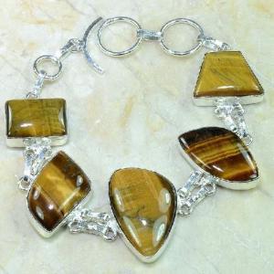 Ot 7863d bracelet oeil de tigre argent 925 achat vente bijoux