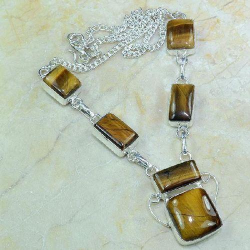 Ot 7865a collier parure sautoir oeil de tigre argent 925 achat vente bijoux