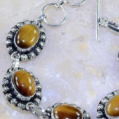 Ot 7866b bracelet oeil de tigre argent 925 achat vente bijoux