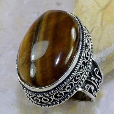 Ot 7869a bague chevaliere t58 oeil de tigre argent 925 achat vente bijoux