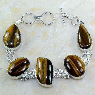 Ot 7873a bracelet oeil de tigre argent 925 achat vente bijoux
