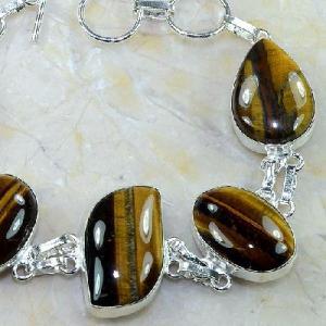 Ot 7873b bracelet oeil de tigre argent 925 achat vente bijoux