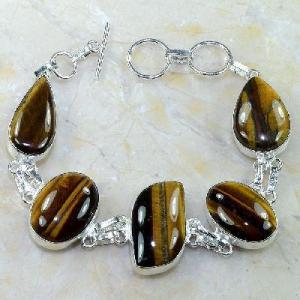 Ot 7873d bracelet oeil de tigre argent 925 achat vente bijoux