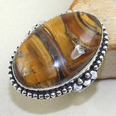 Ot 7881a bague chevaliere t59 oeil de tigre argent 925 achat vente bijoux