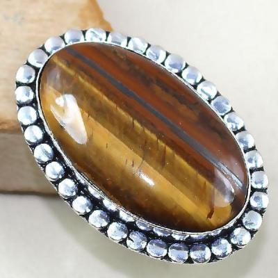 Ot 7882ab bague chevaliere t61 oeil de tigre argent 925 achat vente bijoux