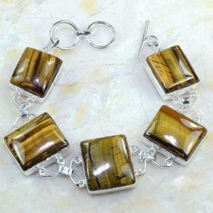 Ot 7884a bracelet oeil de tigre monture argent 925 achat vente bijoux