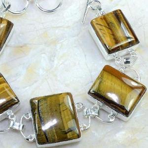 Ot 7884d bracelet oeil de tigre monture argent 925 achat vente bijoux