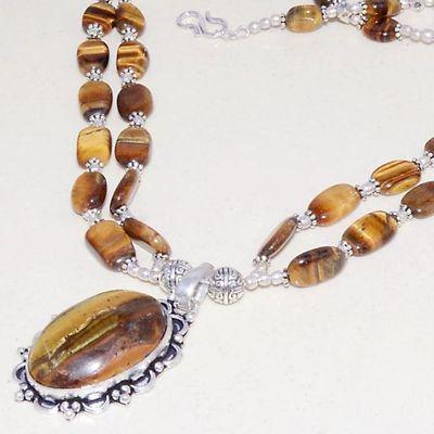 Ot 7937b collier pendant pendentif oeil de tigre 55gr argent 925 achat vente bijoux 1 1