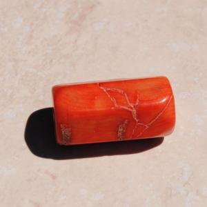 Pcr 012 1 perles corail roses facettee hexagonale polies achat vente loisirs creatifs 1