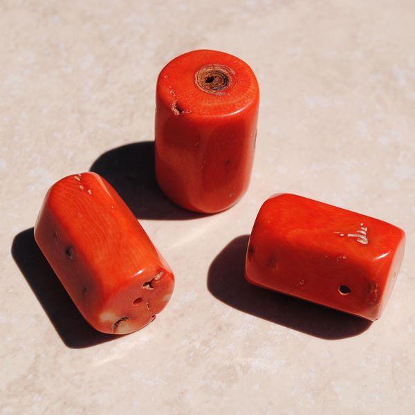 Pcr 015 1 perles corail roses facettee hexagonale polies achat vente loisirs creatifs