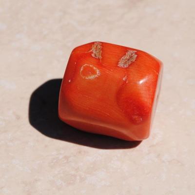 Pcr 017 1 perles corail roses facettee hexagonale polies achat vente loisirs creatifs