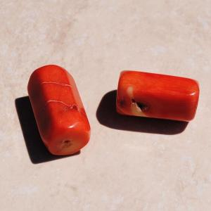 Pcr 019 1 perles corail roses facettee hexagonale polies achat vente loisirs creatifs