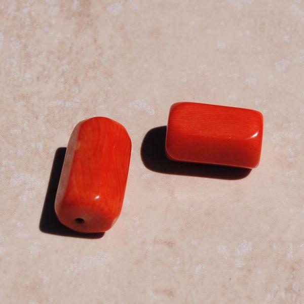 Pcr 027 1 perles corail roses facettee hexagonale polies achat vente loisirs creatifs