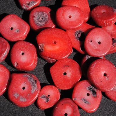 Pcr 044 2 perles corail 18x12mm 50gr achat vente loisirs creatifs