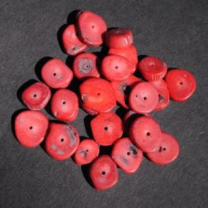 Pcr 044 4 perles corail 18x12mm 50gr achat vente loisirs creatifs