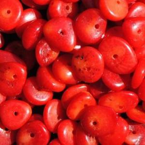 Pcr 046 2 perles corail 6x7mm 30gr achat vente loisirs creatifs