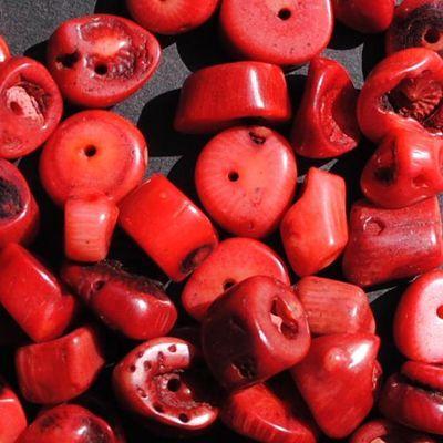 Pcr 048 1 perles corail 10x12mm 52gr achat vente loisirs creatifs