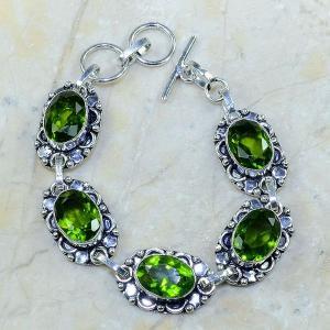 Per 003a bracelet peridot argent 925 achat vente bijoux 1