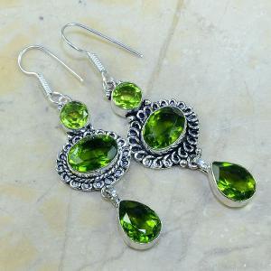Per 047a boucles pendants oreilles peridot argent 925 achat vente bijou