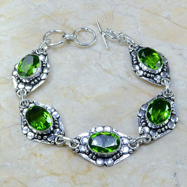 Per 049a bracelet peridot argent 925 achat vente bijoux