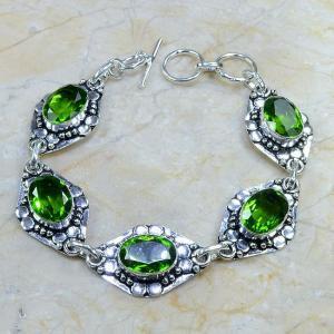 Per 049c bracelet peridot argent 925 achat vente bijoux