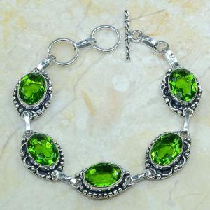 Per 057a bracelet peridot argent 925 achat vente bijoux