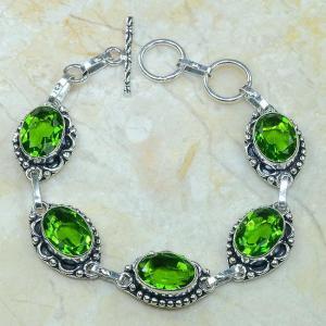 Per 057c bracelet peridot argent 925 achat vente bijoux