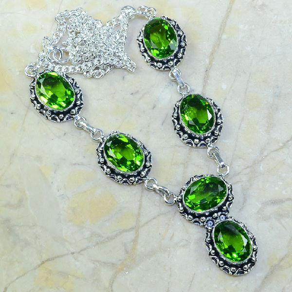 Per 067a collier parure sautoir peridot argent 925 achat vente bijou 1